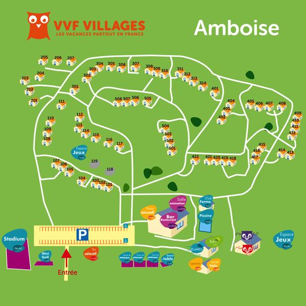 Plan du village de Amboise